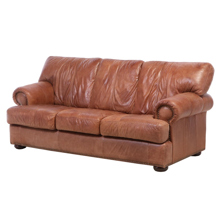 Leather Mart Rolled-Arm Sofa