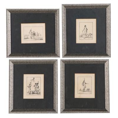Engravings After Jean Duplessis Bertaux of Soldiers