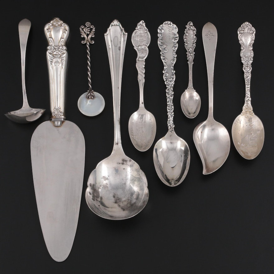 Gorham, Dominick & Haff, and Other Sterling Silver Flatware and Serving Utensils