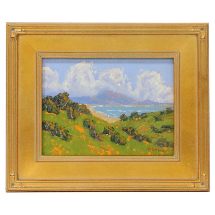 "Marc A. Graison Oil Painting ""Far Coast,"" 2021"
