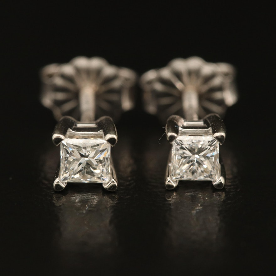 14K 0.35 CTW Diamond Solitaire Stud Earrings