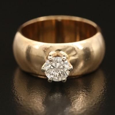 14K 0.49 CT Diamond Solitaire Ring