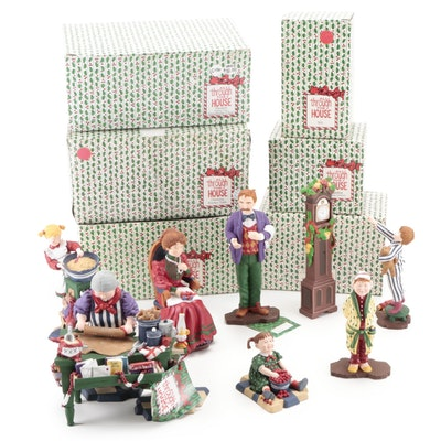 """Department 56 """"All Through The House"""" and Other Christmas Figurines"""