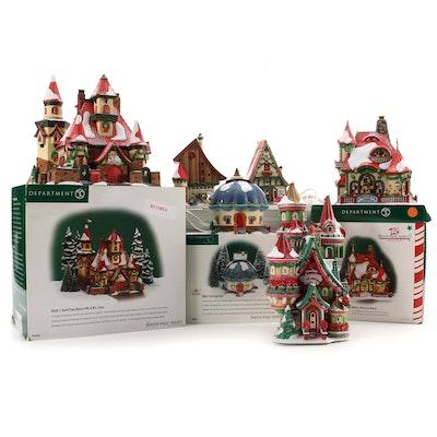 """Department 56 """"North Pole"""" Porcelain Village Buildings"""