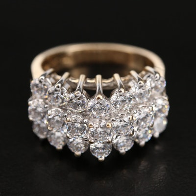 14K Cubic Zirconia Tiered Ring