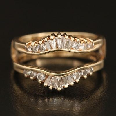 14K 0.64 CTW Diamond Ring Enhancer
