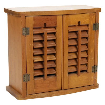 Wooden Spice Cabinet with Two Shelves