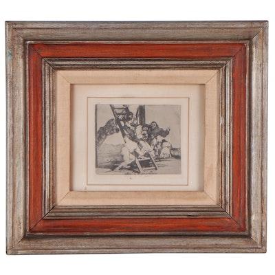 """Lithograph After Francisco Jose De Goya Y Lucientes """"Duro es el Paso!"""""""
