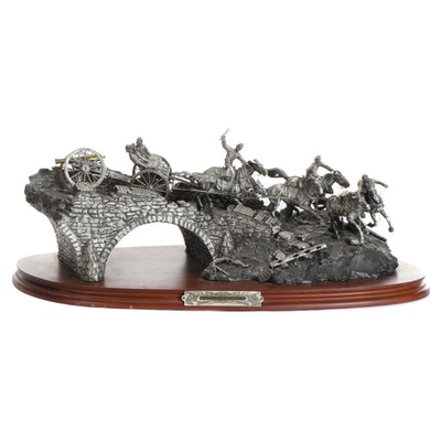"""Francis J. Barnum for Chilmark Pewter Sculpture """"Burnside's Bridge,"""" 1989"""