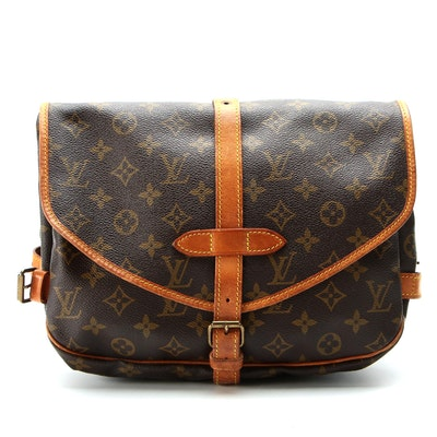 Louis Vuitton Saumur MM Double-Sided Crossbody Bag in Monogram Canvas