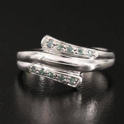 Sterling Alexandrite Bypass Ring