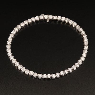 18K 5.25 CTW Diamond Line Bracelet
