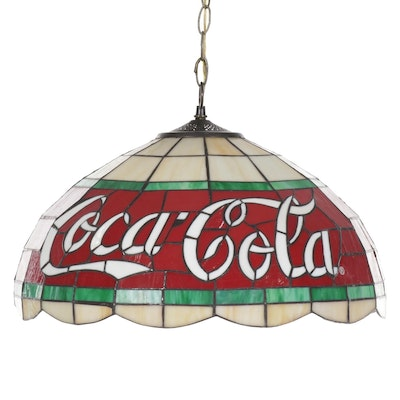 Coca-Cola Stained Glass Hanging Pendant Shade