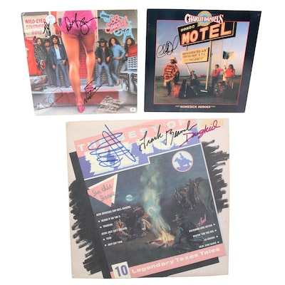 ZZ Top, Charlie Daniels and .38 Special Signed Records with COAs and Photos