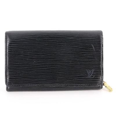 Louis Vuitton Porte-Monnaie Billet Trésor in Black Epi Leather