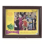 """Adam West and Lee Meriwether Signed """"Batman"""" Television Series Lobby Card, COA"""