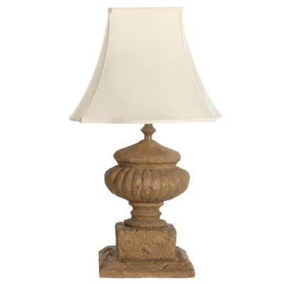 Barbara Cosgrove Faux Stone Urn Table Lamp