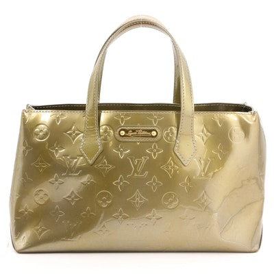 Louis Vuitton Wilshire PM Bag in Vert Olive Monogram Vernis