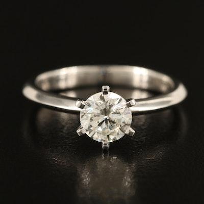 18K 1.00 CT Diamond Solitaire Ring