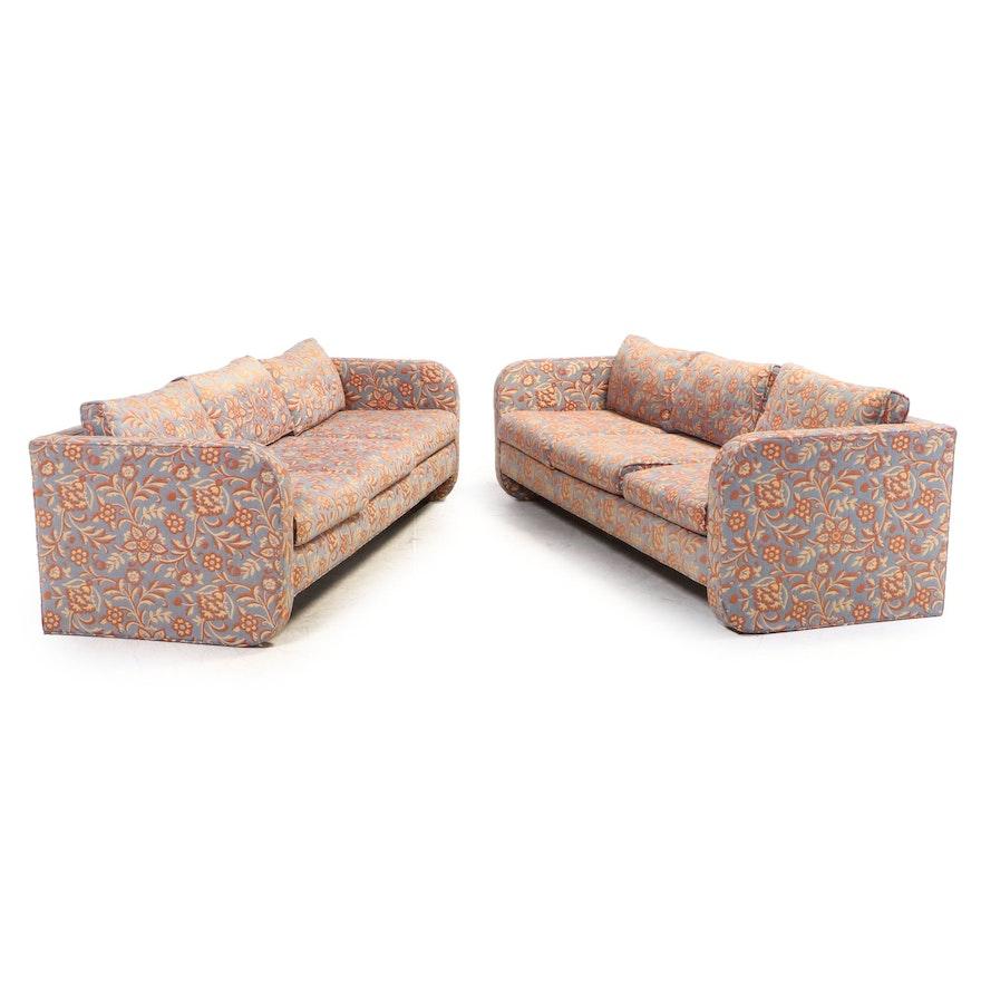 "Pair of Ed Masic Interiors Custom ""Apollo"" Sofas with Westgate Upholstery"
