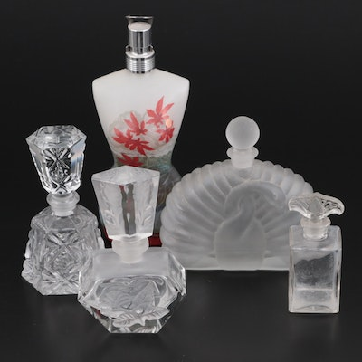 Jean Paul Gaultier and Other Frosted and Cut Glass Perfume Bottles