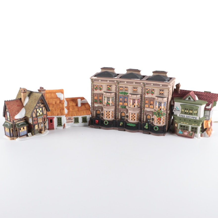"Department 56 ""Dicken's Village"" Porcelain Building FIgurines"