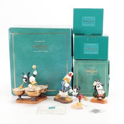 """Walt Disney Classics """"Donald's Drum Beat"""" and Other Character Figurines"""