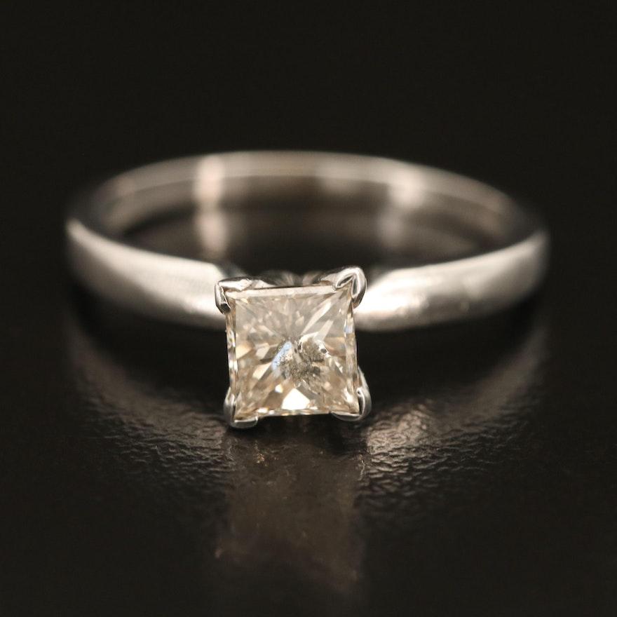 14K 0.67 CT Diamond Solitaire Ring