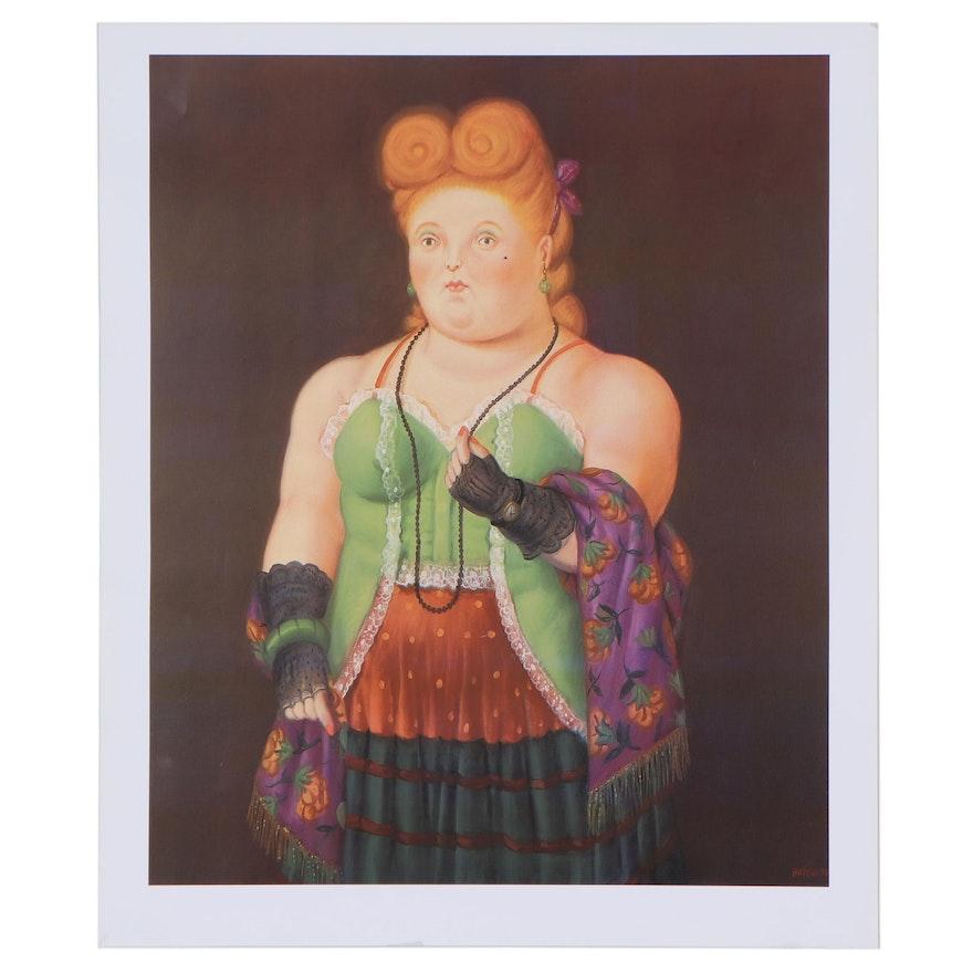 """Offset Lithograph After Fernando Botero """"High Society,"""" Circa 2000"""