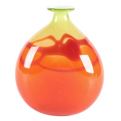 Daniel Elder Art Glass Vase, 1974