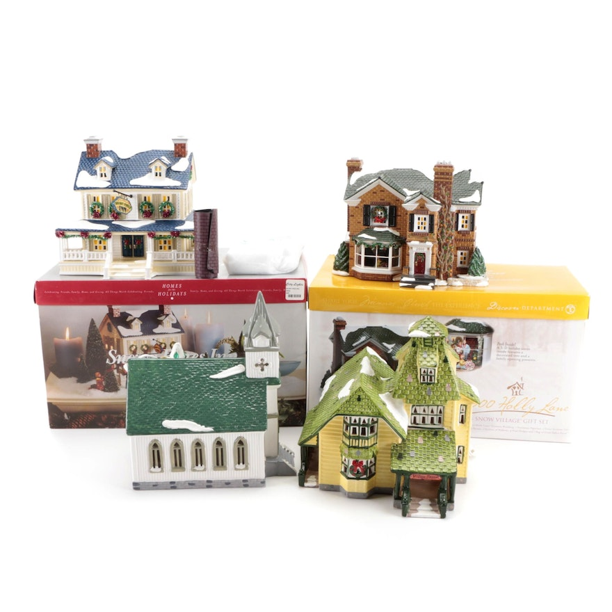 Department 56 Snow Village Series and Other Department 56 Porcelain Houses