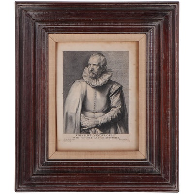 "Paulus Pontius Restrike Engraving ""Cornelius Vander Geest"""