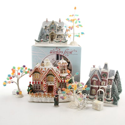 Department 56 Winters Frost Houses and Other Christmas Village Accessories