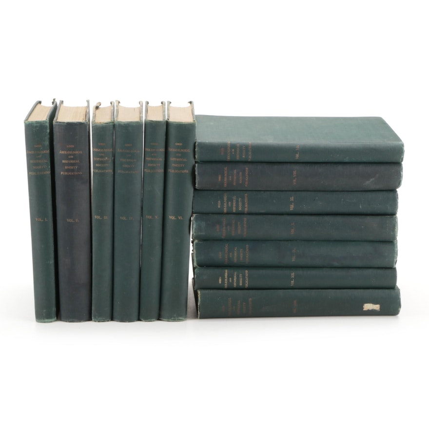 """""""Ohio Archæological and Historical Publications"""" Thirteen-Volume Collection"""