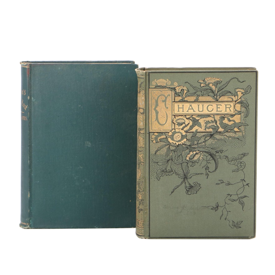 """""""The Poetical Works of Geoffrey Chaucer"""" and """"Paradise Lost,"""" 19th Century"""