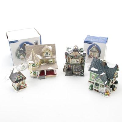 """Department 56 """"Snow Village"""" Porcelain Building Figurines"""