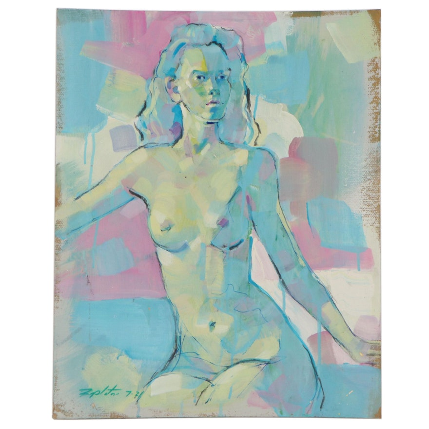Raymond Zaplatar Figurative Acrylic Painting, 2021