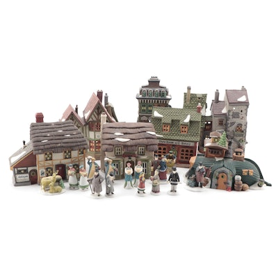 """Department 56 """"Dickens' Village Series"""" and Other Table Decorations"""