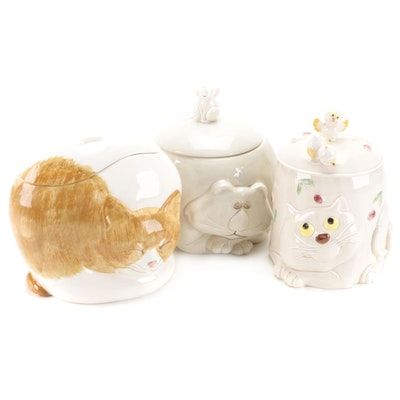 """Fitz and Floyd """"Fat Cat"""" and Other Cat Cookie Jars"""