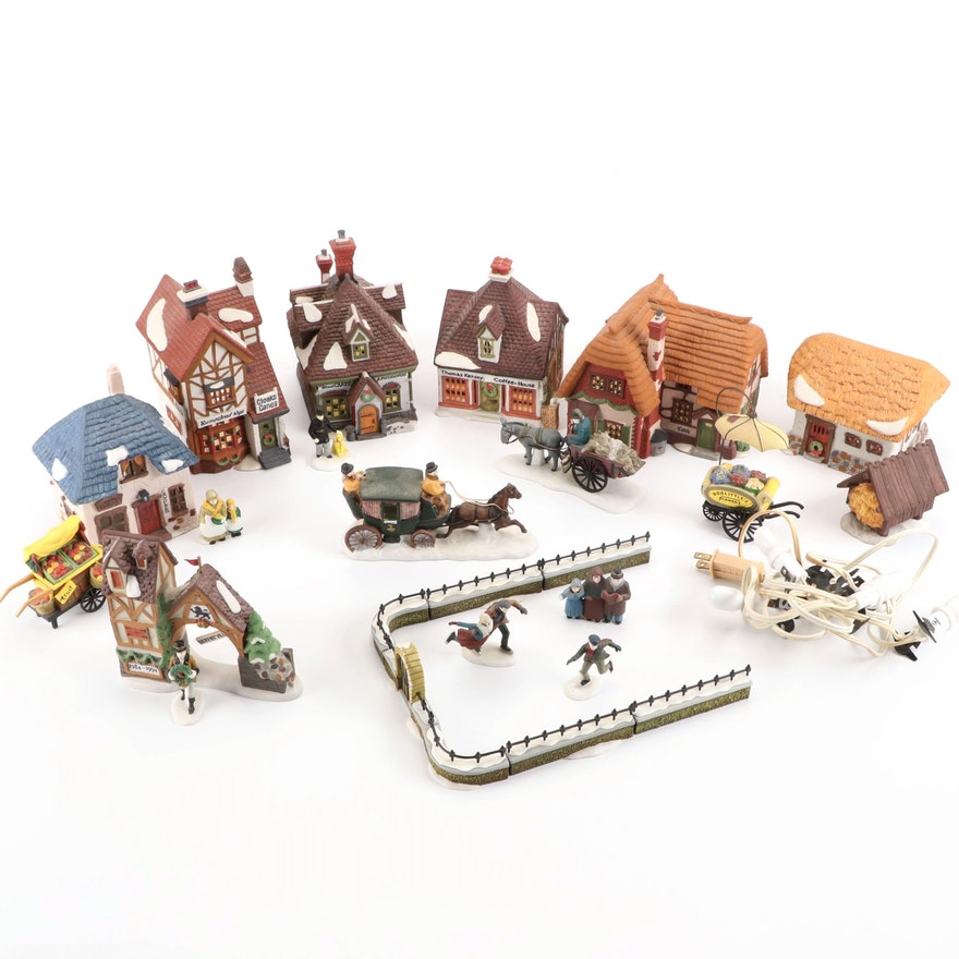 """Department 56 """"Dickens' Village"""" Series and Other Buildings and Accessories"""