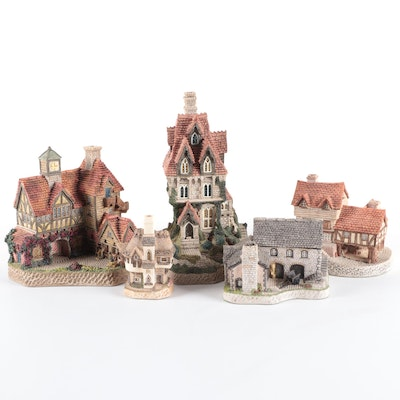 """David Winters """"The House Of Usher"""", """"Punch Stables"""" and Other Building Figurines"""
