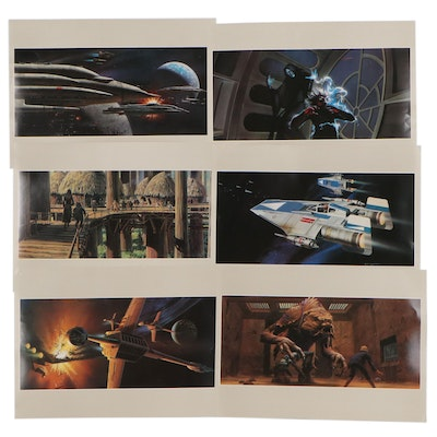 """""""Star Wars"""" Themed Offset Lithographs After Ralph Angus McQuarrie"""