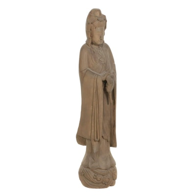 Quan Yin Wood Sculpture