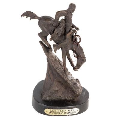"Base Metal Sculpture After Frederic Remington ""Mountain Man"""