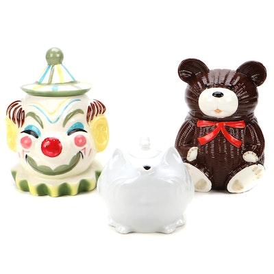 Revol Cat Teapot with OMC and Sierra Vista Cookie Jars