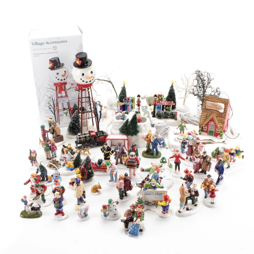 """Department 56 """"Snow Village"""" Characters and Accessories, Late 20th Century"""