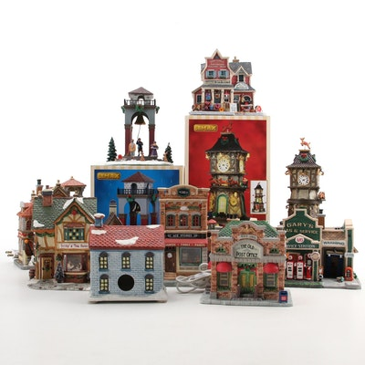 Lemax Ceramic Christmas Village Houses, Contemporary