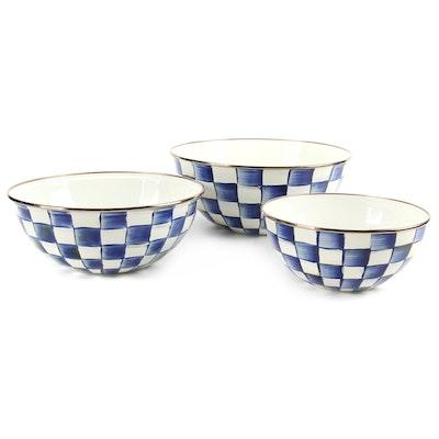 "Mackenzie-Childs ""Royal Check"" Enamelware Everyday Bowls"