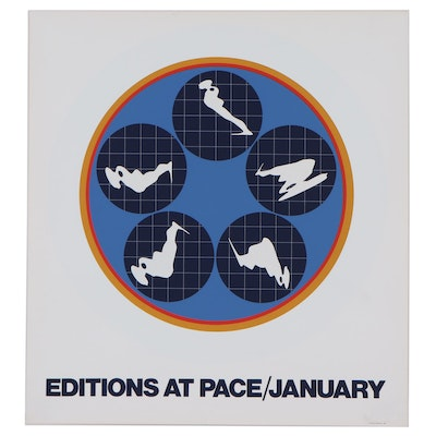 """Serigraph After Ernest Trova """"Editions at Pace/January,"""" 1969"""