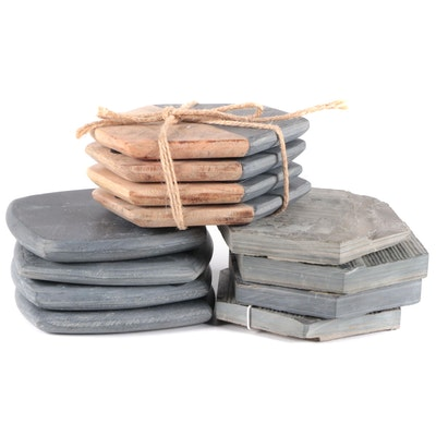 Blue Ocean Traders and Other Slate and Wood Coasters